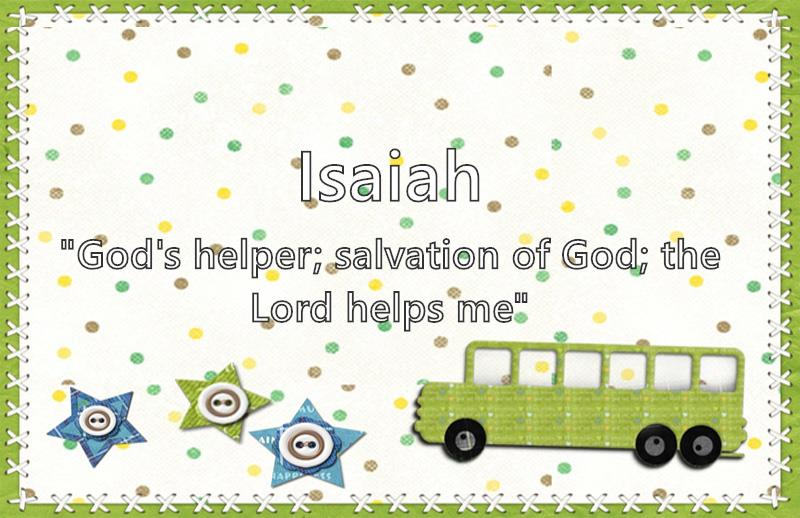 Isaiah - What does the boy name Isaiah mean? (Name Image)