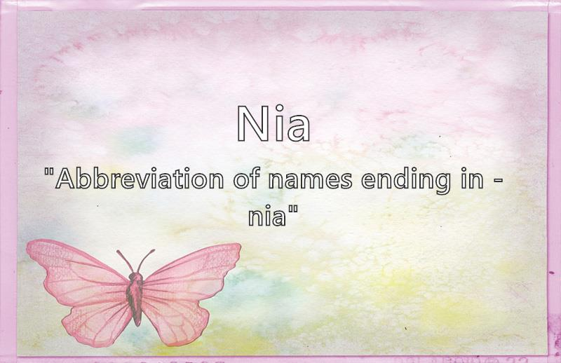 Nia - What does the girl name Nia mean? (Name Image)