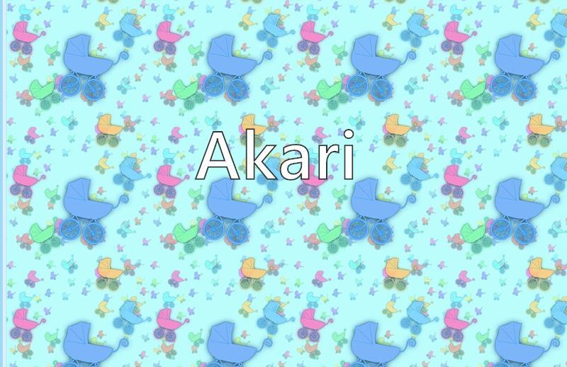 Akari Name Meaning Popularity Similar Names Nicknames And