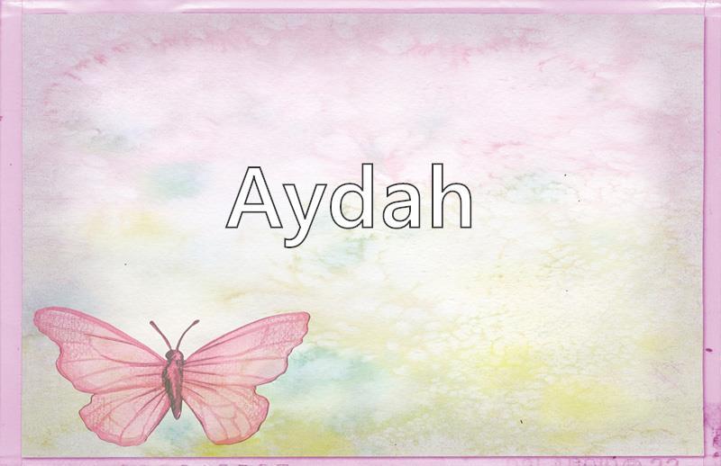 Ayda name meaning