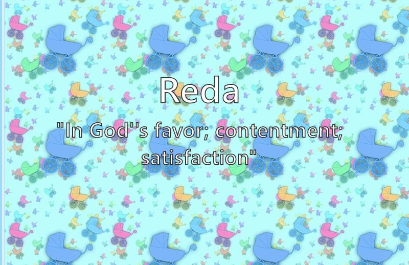 Reda - What does the boy name Reda mean?