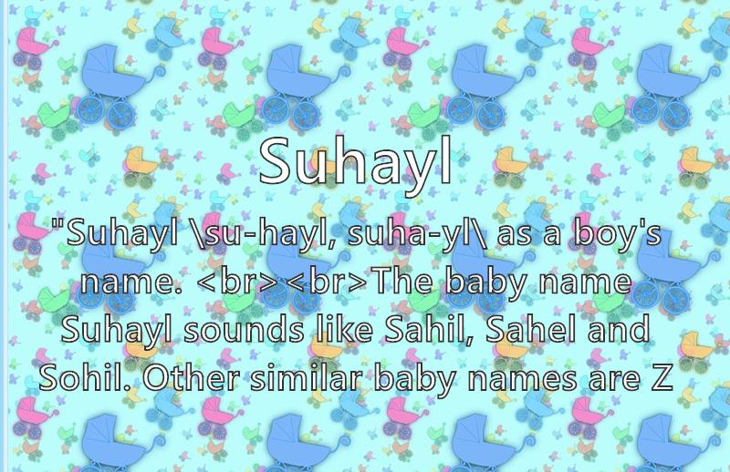 Suhayl Name Meaning Popularity Similar Names Nicknames And